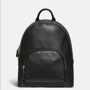 NWT Coach Carrie black bag pack